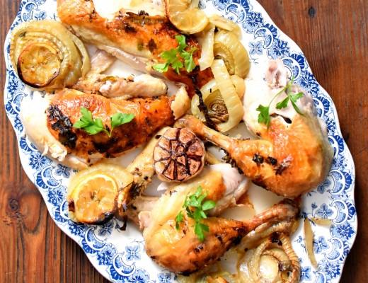 Poulet rôti au fenouil