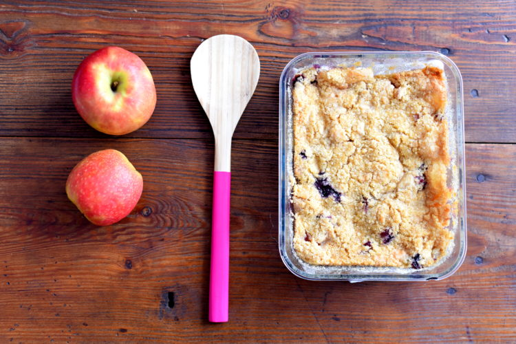 Crumble pommes ~ blueberries