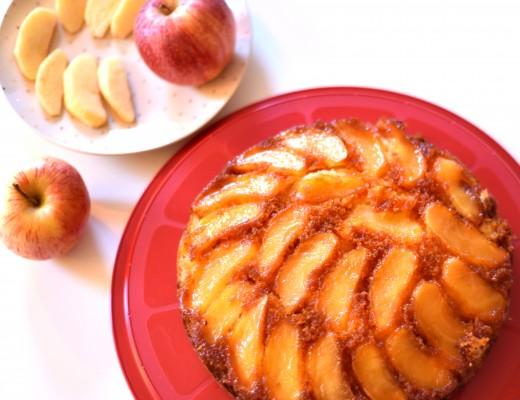 Gâteau de pommes caramélisées