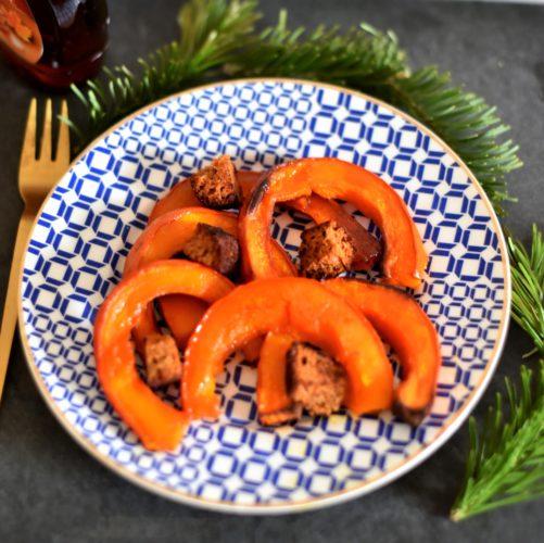 Potimarron rôti et pain d'épice grillé