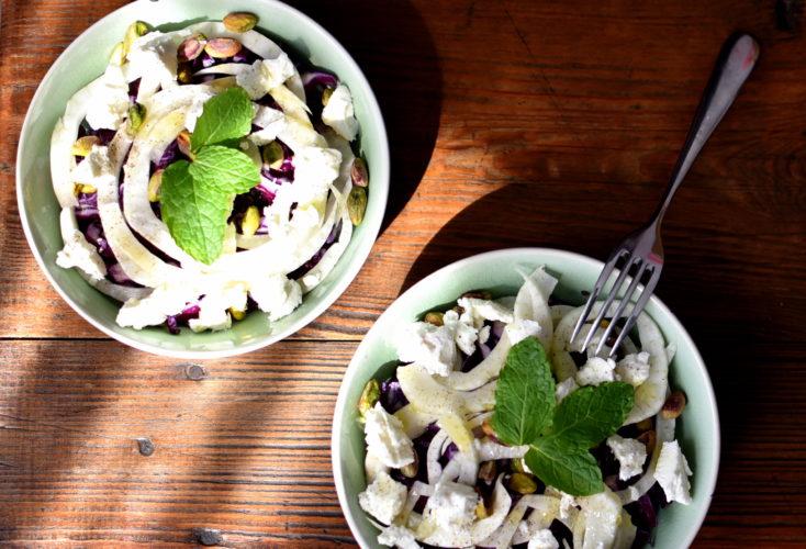 Salade detox chou et fenouil