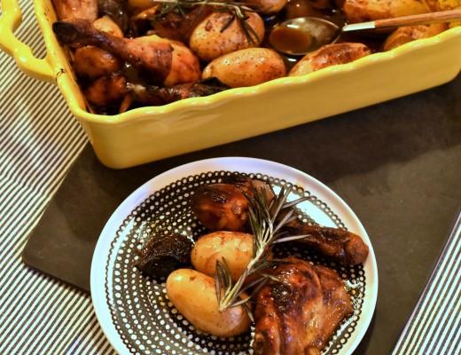 poulet caramélisé à la mélasse de grenade
