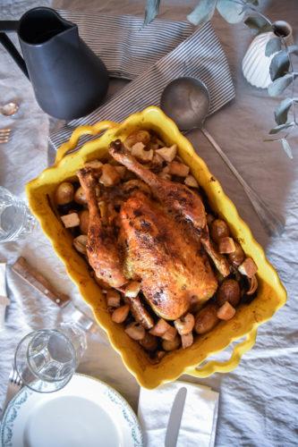 Poulet aux épices et légumes rôtis
