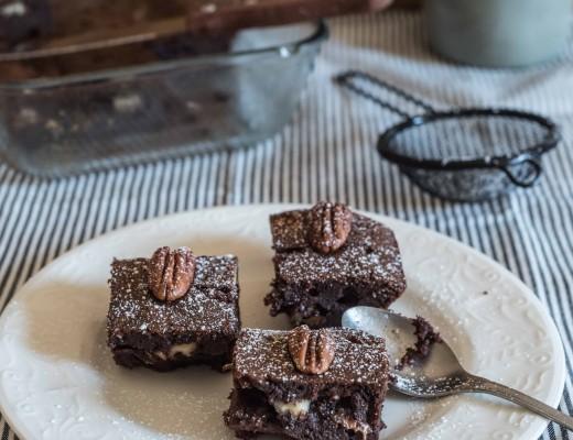 gâteau fondant au chocolat et noix de pécan