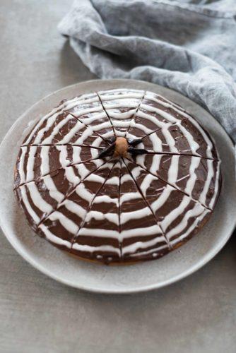 Gâteau zébré d'Halloween