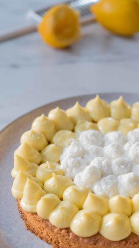 Tarte au citron et coco
