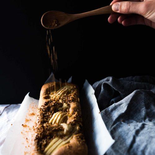Gâteau poires pralin