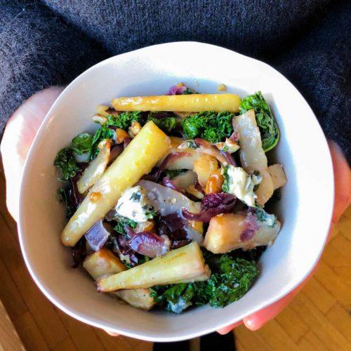 Légumes d'hiver au bleu d'auvergne