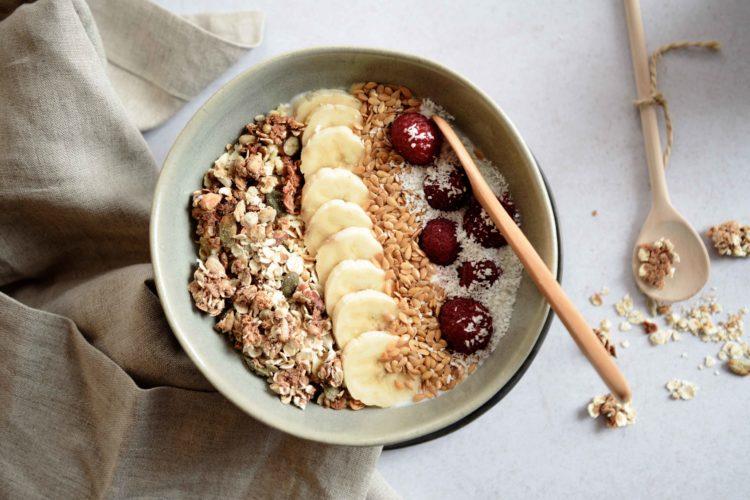 (Français) Bol de yaourt aux fruits et granola