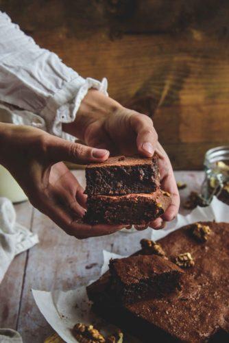 Brownie fondant aux noix