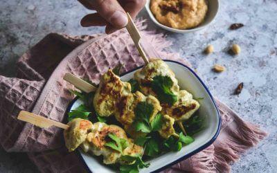 Brochettes de poulet, sauce Satay