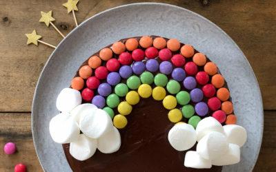 Gâteau anniversaire Arc en ciel