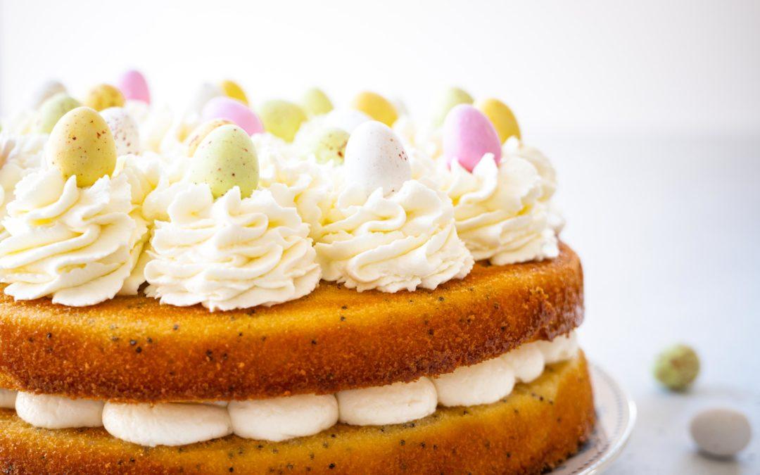 Layer cake de Pâques au citron et pavot