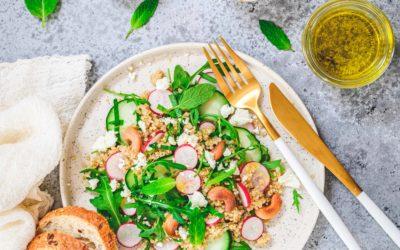 Salade de quinoa, roquette, fêta